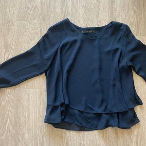 Navy Zara Work top